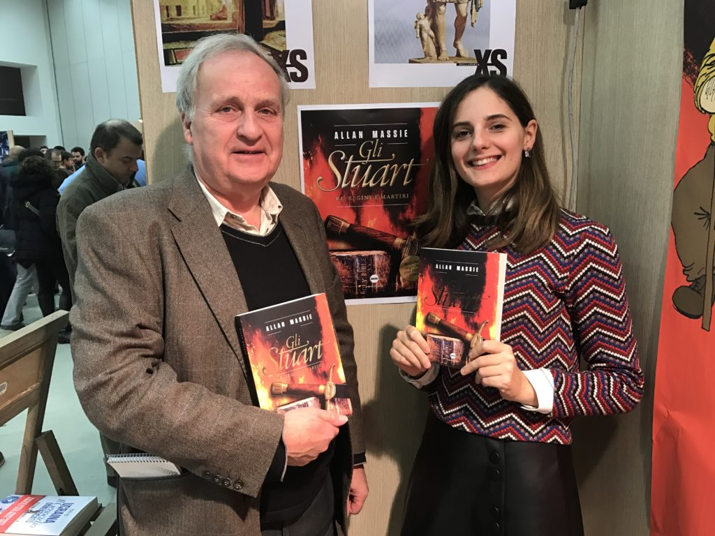 Joseph Farrell e Silvia Della Porta dopo la presentazione del libro al Pisa Book Festival 2016.